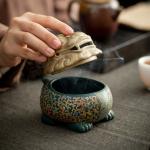 【金猊瑞烟】狻猊陶瓷香炉