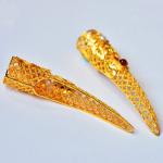 【护甲金指】925银镀金花丝清宫中国风珍珠红玛瑙指甲套护甲套(一只价)