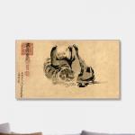 【开光镇宅风水画】二祖调心图(生肖马狗猪必备)
