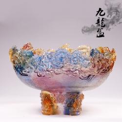 【九龙聚宝】古法琉璃祥龙聚宝盆