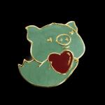 【猪事可爱】福气小飞猪珐琅吊坠