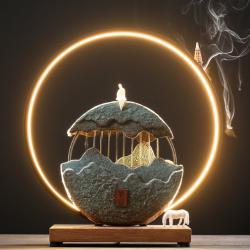 山间观月——陶瓷观山月招财流水器