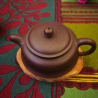 紫砂壶--周盘(手壶)紫泥