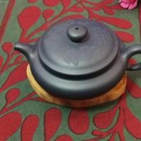 紫砂壶--仿古大盖全手工民国绿泥
