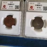 西藏铜币(2枚)