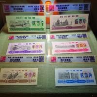 四川文革粮票1973年 共6枚 8.8市斤 绝美品 评级